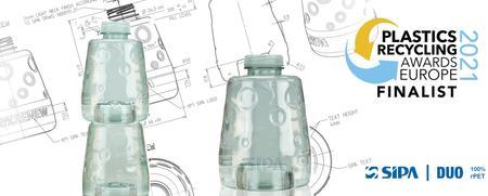 西帕的 DUO 迷你可堆叠瓶入围2021年欧洲塑料回收奖决赛
